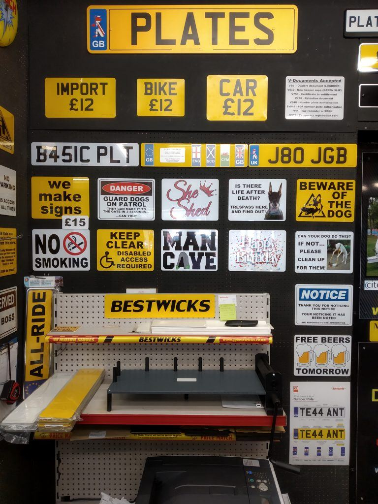 Vehicle Number Plates Made While You Wait In Allenton Derby Bestwicks